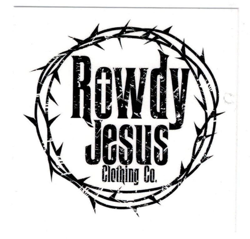 Rowdy Jesus Clothing Co. Sticker