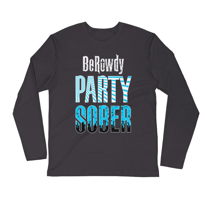 Men's Long Sleeve - Teal Party Sober