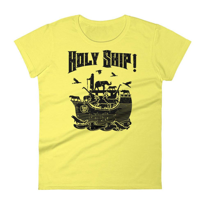 Women's Crew Neck - Black Holy Ship!