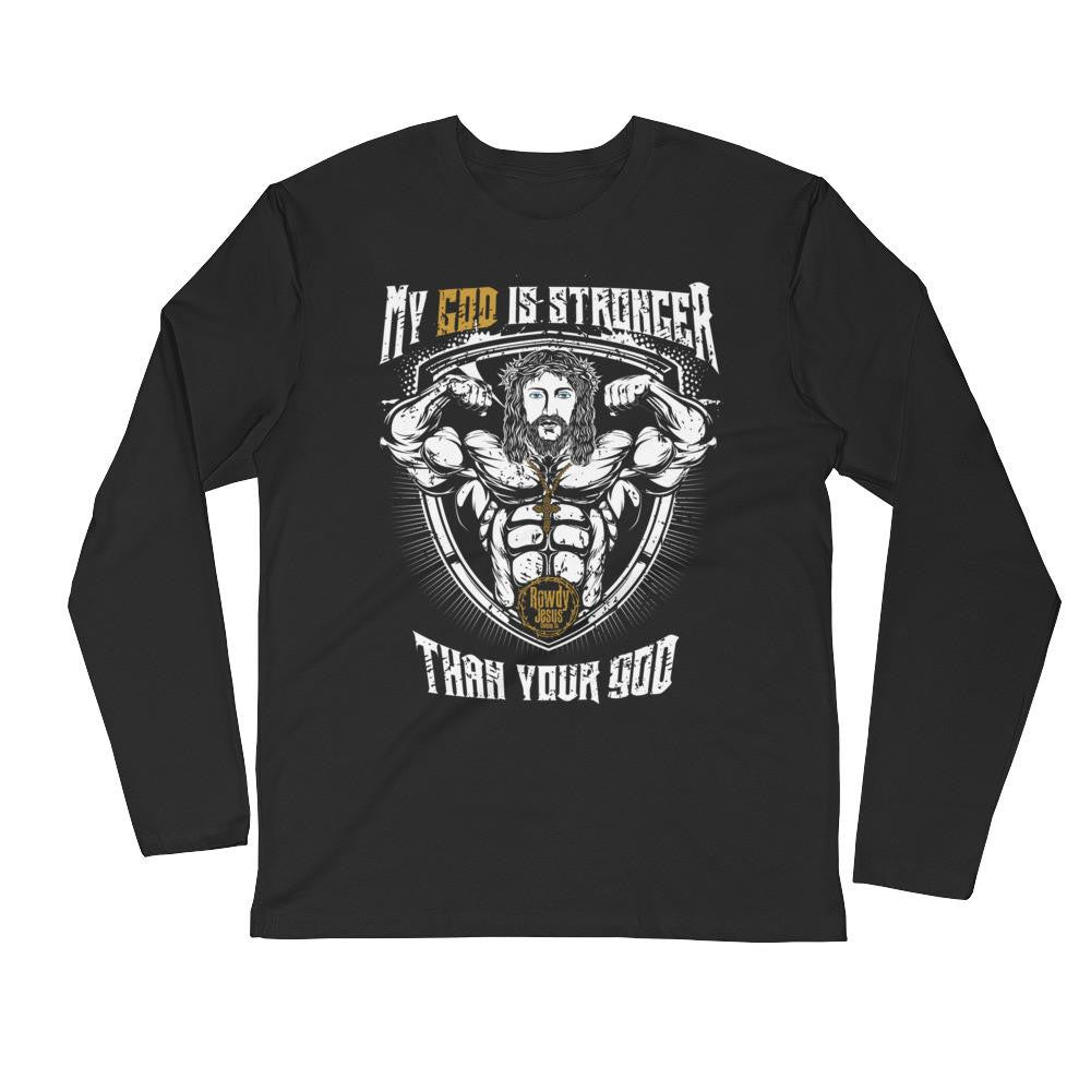 Men's Long Sleeve - My God Is Stronger