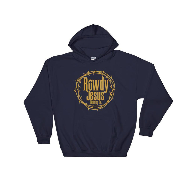 Unisex Hooded Sweatshirt - Gold Logo