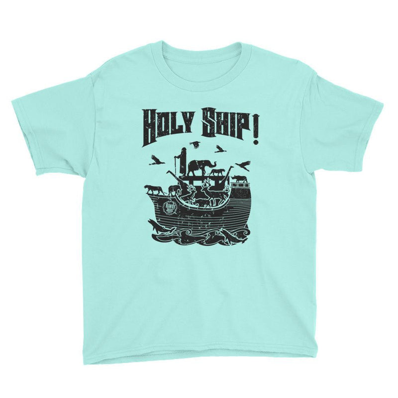 Youth Crew Neck - Black Holy Ship!