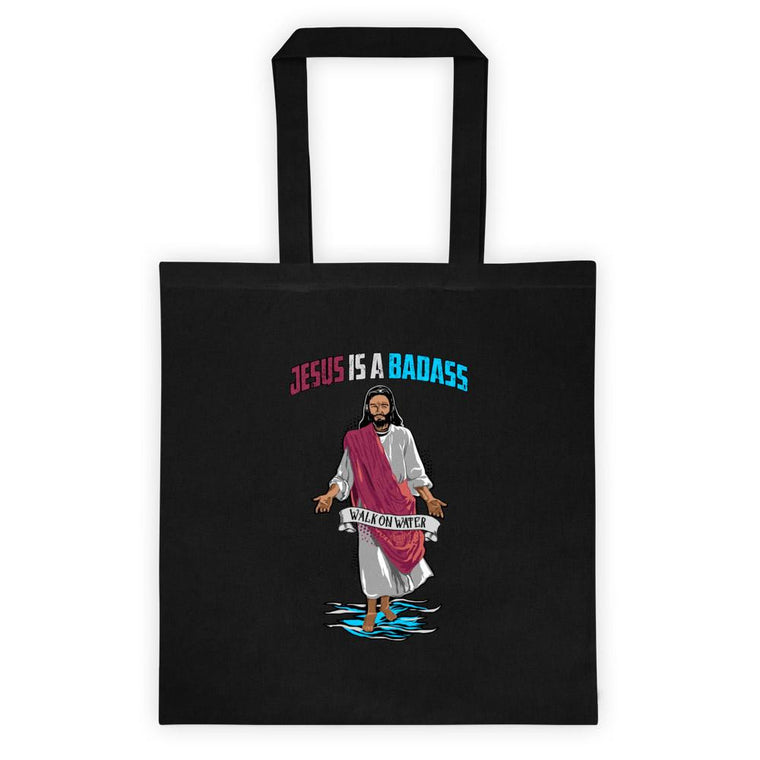 Tote bag - Jesus Is A Badass (Walk On Water)