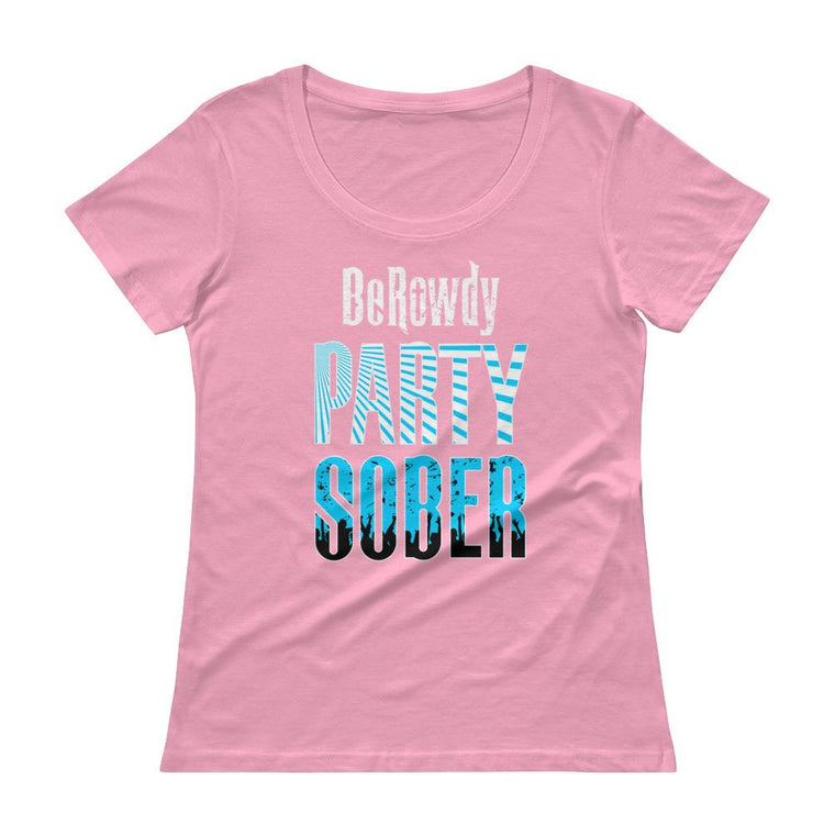 Women's Scoopneck -Teal Party Sober