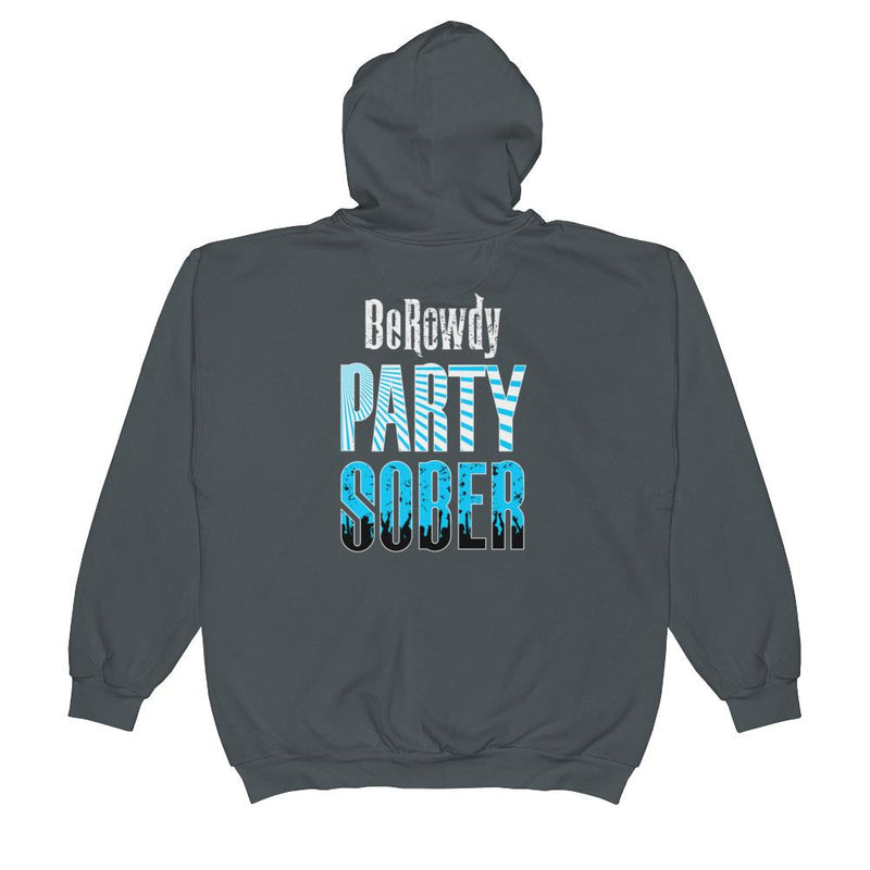 Unisex Zip Hoodie - Teal Party Sober