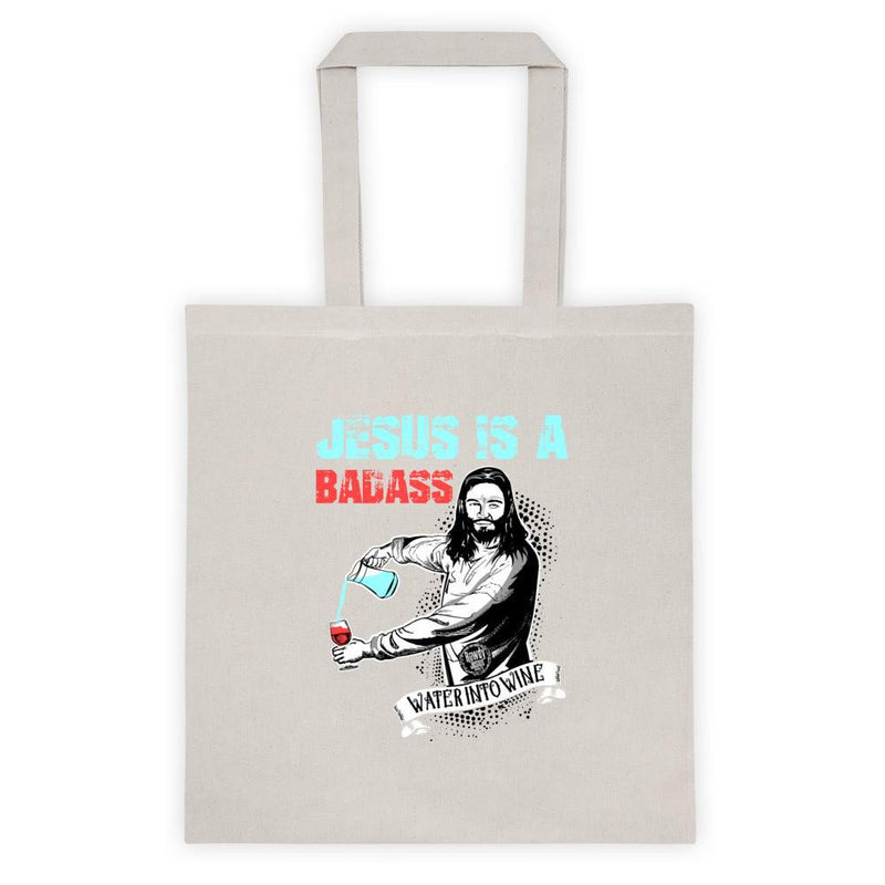 Tote bag - Jesus Is A Badass (Water Into Wine)