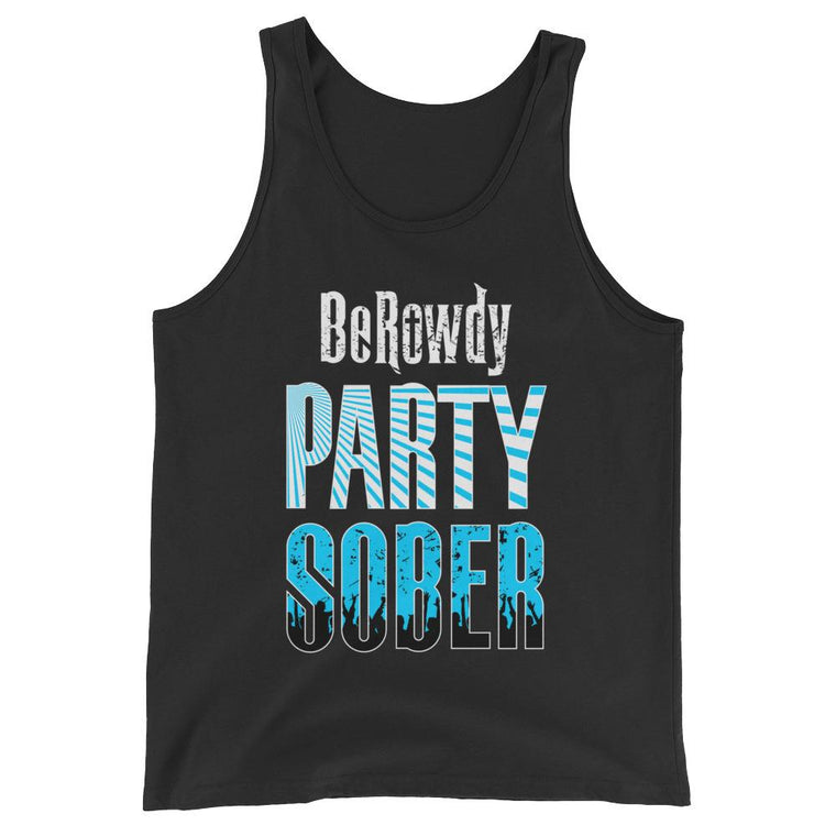 Men's Tank Top - Teal Party Sober