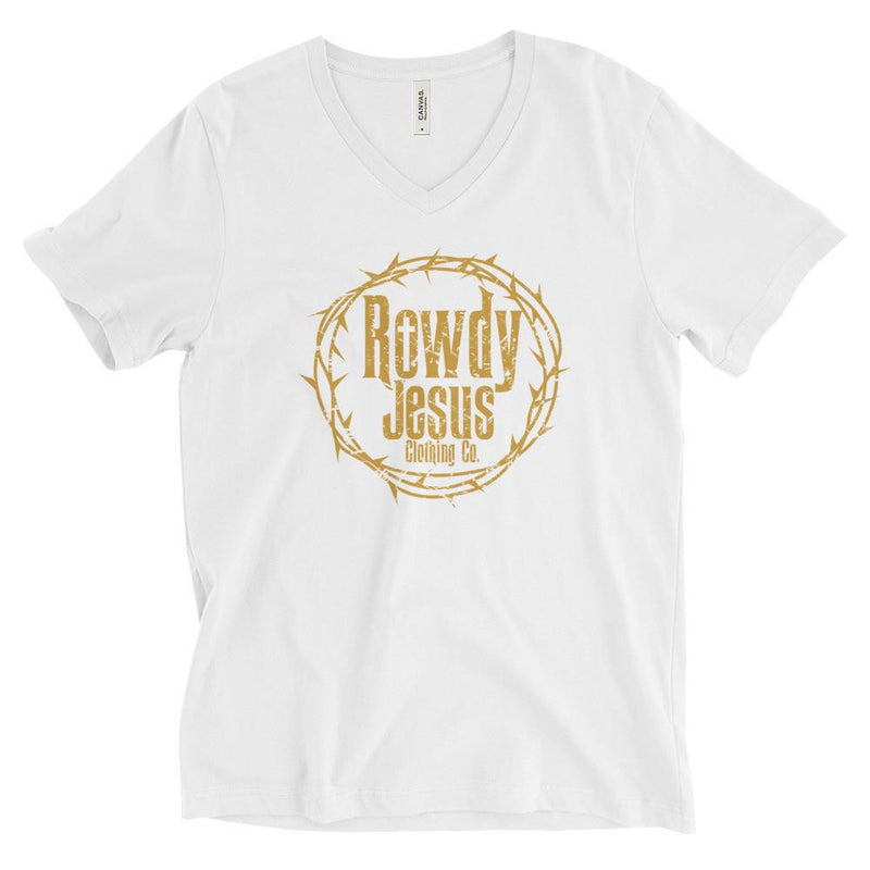 Women's V-Neck Boyfriend Cut - Gold Logo