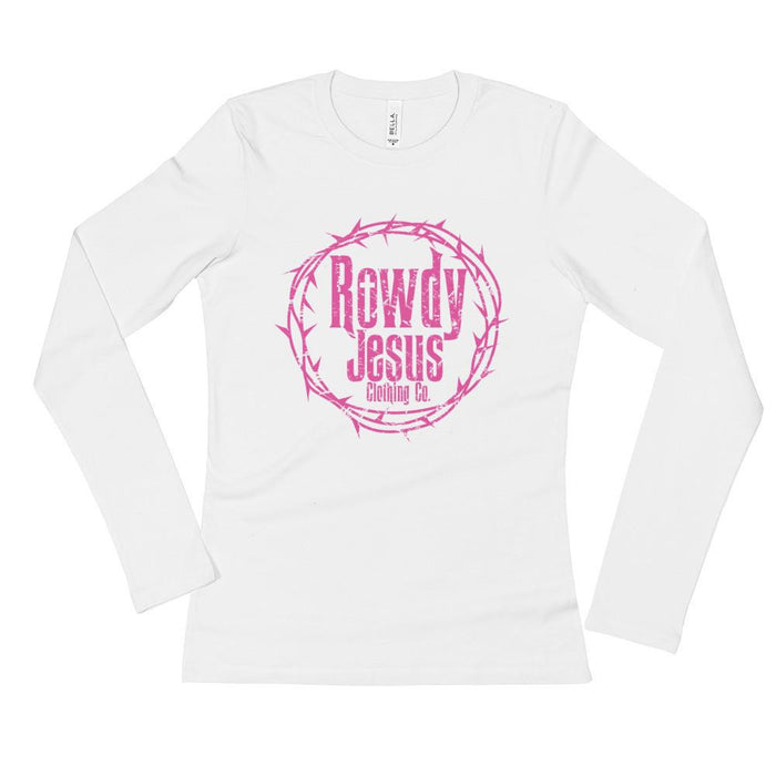 Women's Long Sleeve - Pink Logo