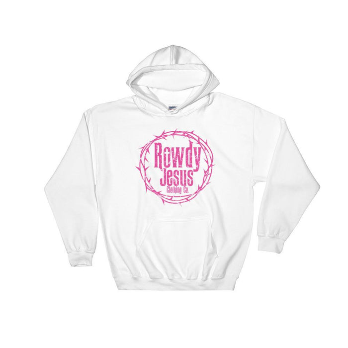 Unisex Hooded Sweatshirt - Pink Logo