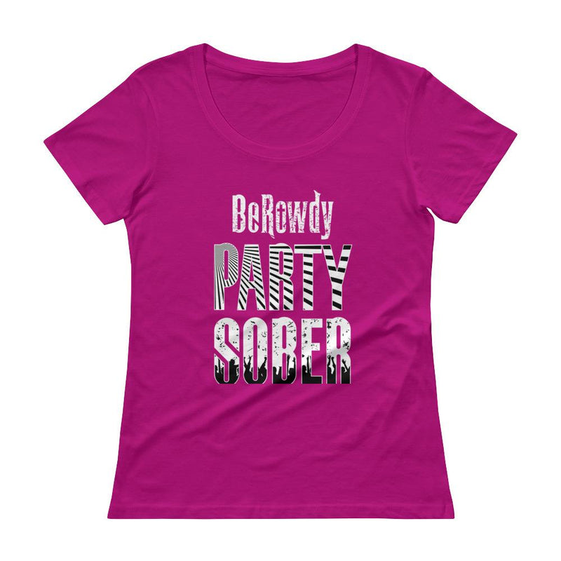 Women's Scoopneck - White Party Sober