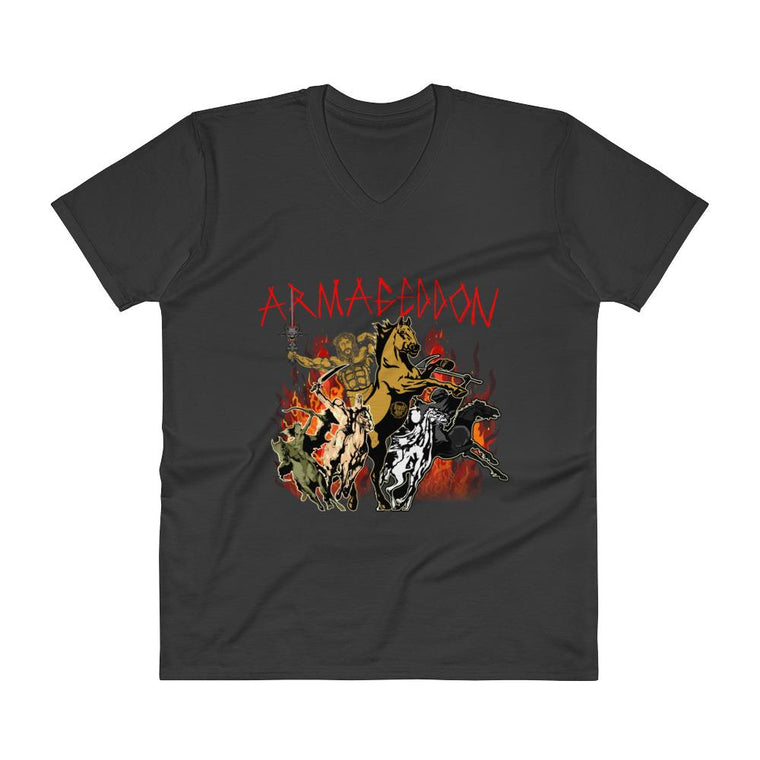 Men's V-Neck T-Shirt - Armageddon