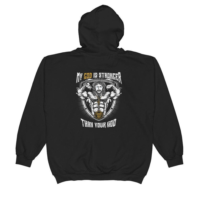 Unisex Zip Hoodie - My God Is Stronger