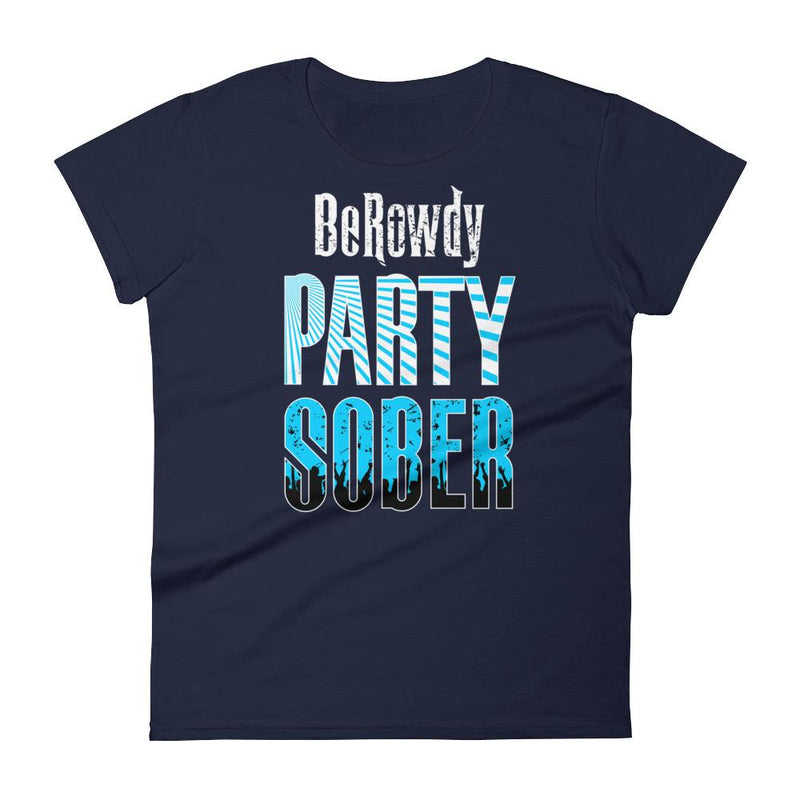 Women's Crew Neck - Teal Party Sober