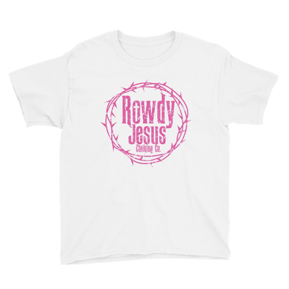 Youth Crew Neck - Pink Logo