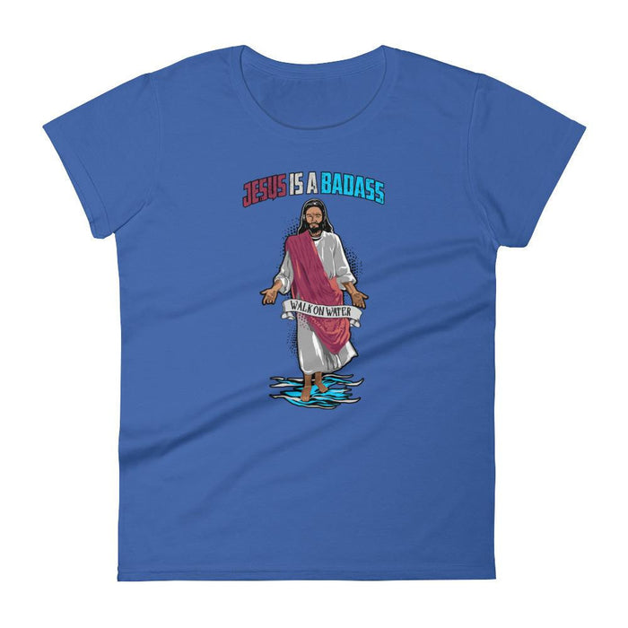 Women's Crew Neck - Jesus Is A Badass (Walk On Water)