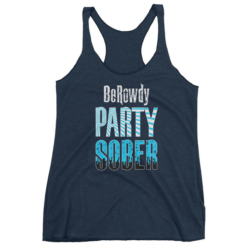 Women's Workout Racerback Tank - Teal Party Sober