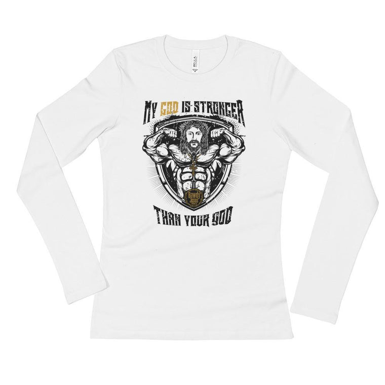 Women's Long Sleeve - My God Is Stronger