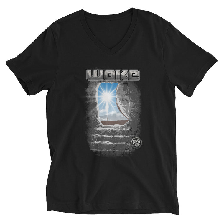 Men's V-Neck T-Shirt - Woke