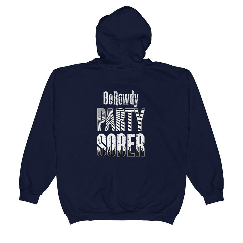 Unisex Zip Hoodie - White Party Sober