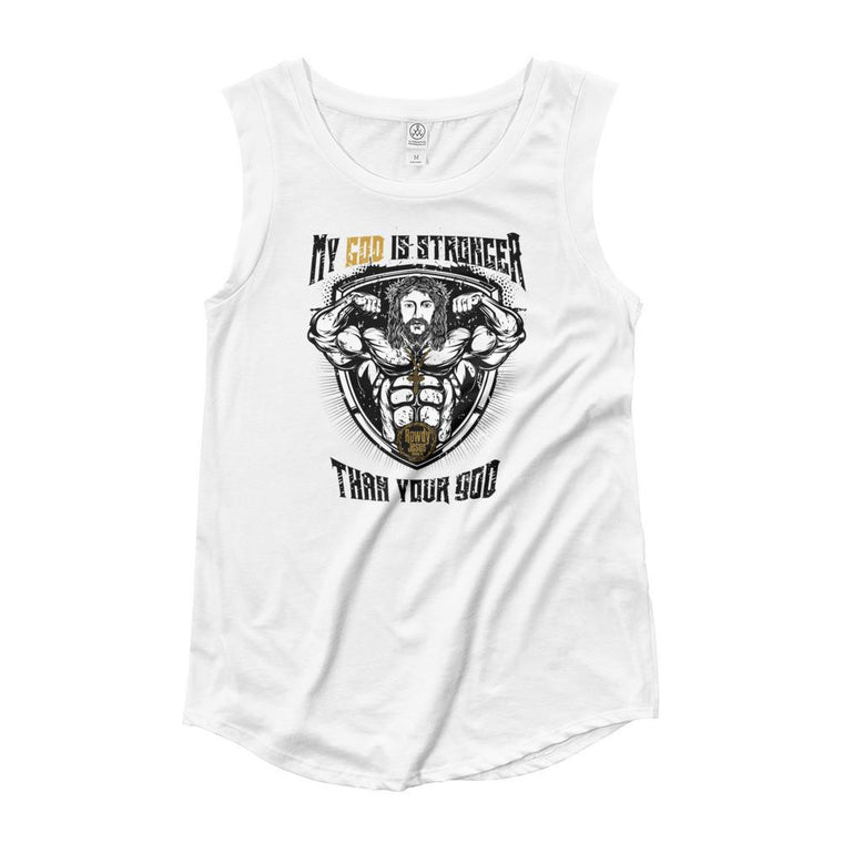 Women's Cap Sleeve Tank - My God Is Stronger