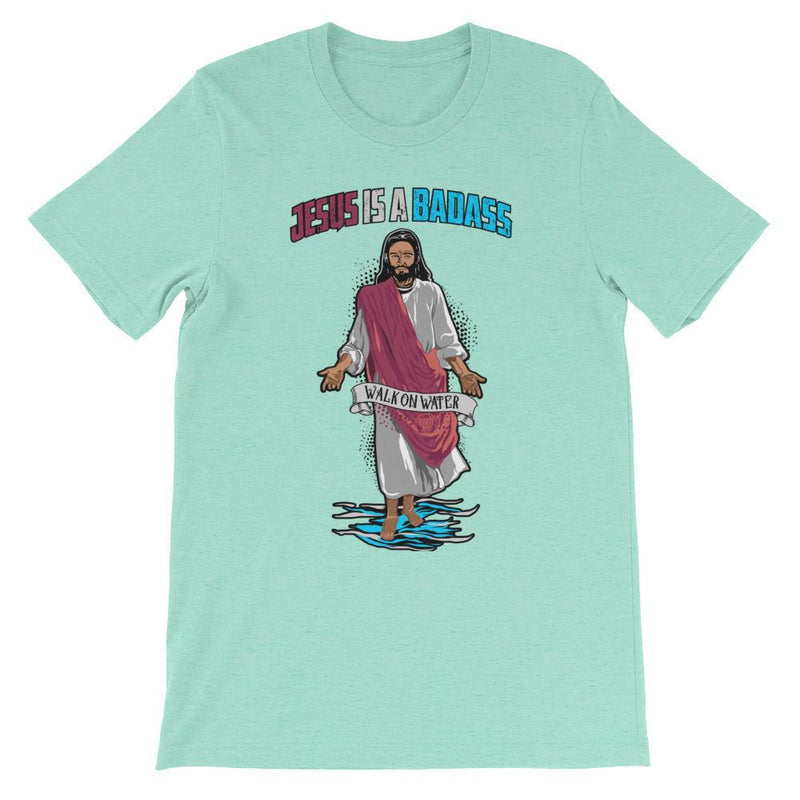 Men's Crew Neck - Jesus Is A Badass (Walk On Water)