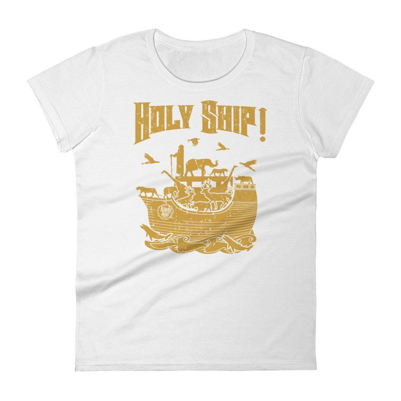 Women's Crew Neck - Gold Holy Ship!