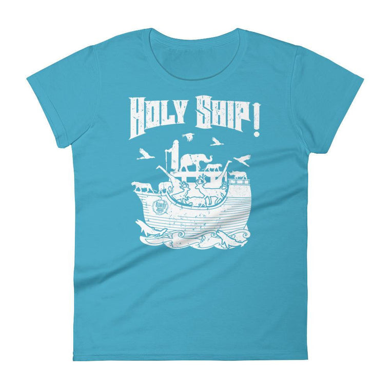 Women's Crew Neck - White Holy Ship!
