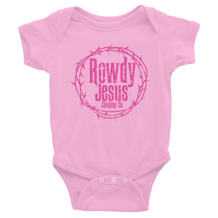Infant Onesie - Pink Logo