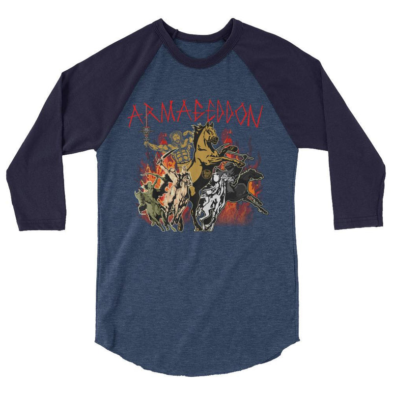 Men's 3/4 Sleeve Raglan Shirt - Armageddon