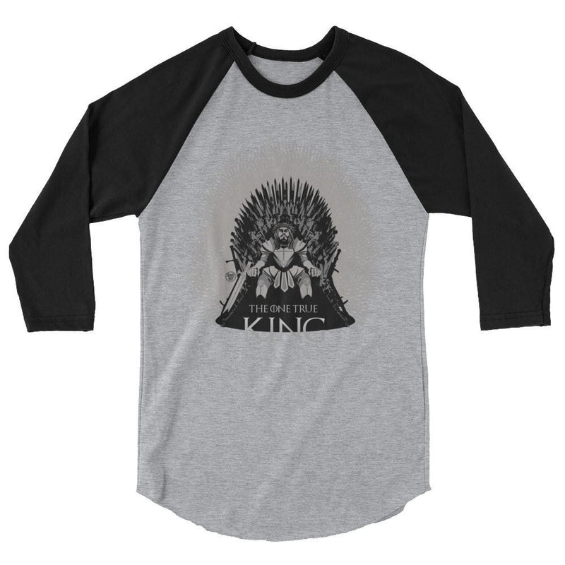 Men's 3/4 Sleeve Raglan Shirt - One True King