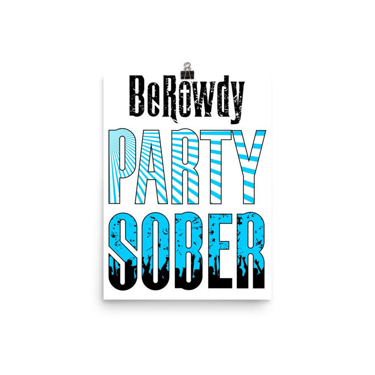Poster - Teal Party Sober