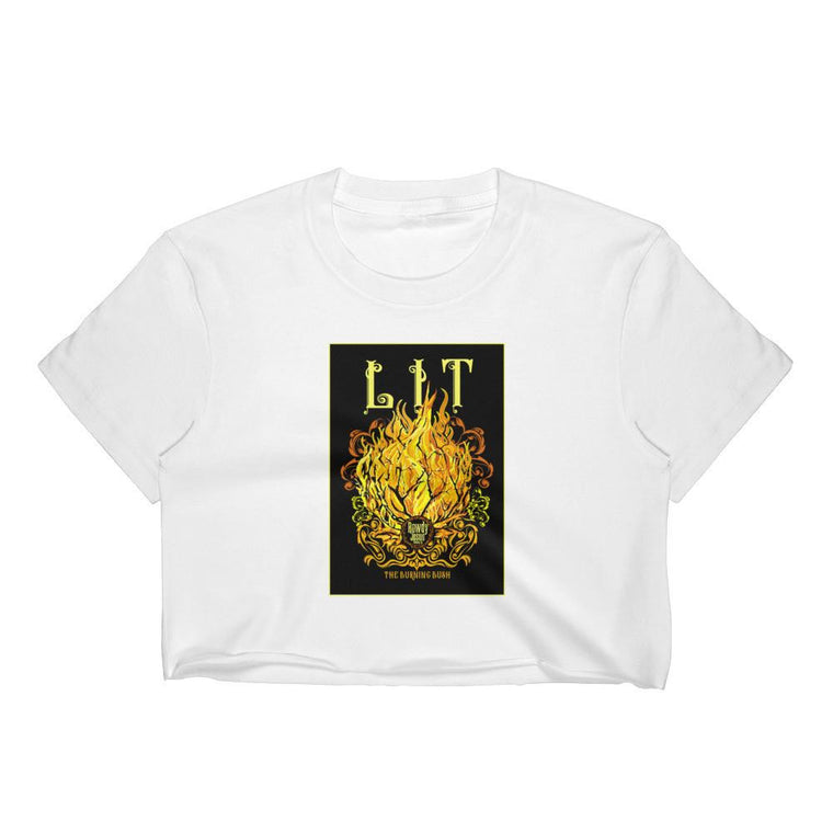 Women's Crop Top - LIT (The Burning Bush)
