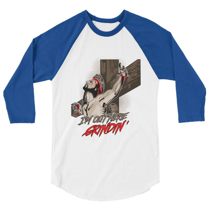 Men's 3/4 Sleeve Raglan Shirt - Grindin