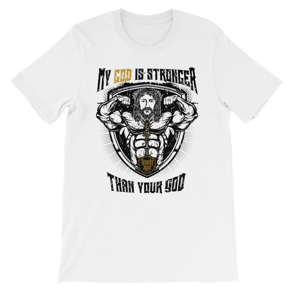 Men's Crew Neck - My God Is Stronger