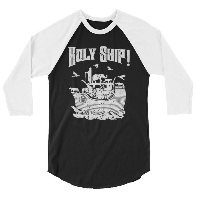Men's 3/4 Sleeve Raglan Shirt - White Holy Ship!