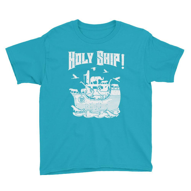 Youth Crew Neck - White Holy Ship!