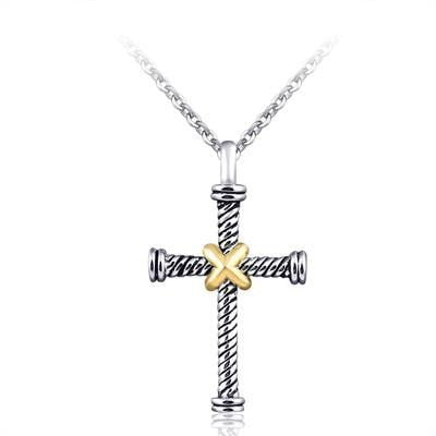 Twisted Metal Cross w/ Chain