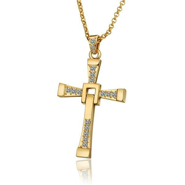 Dynamic Foldable Cross w/ Chain Necklace (3 Color Styles)
