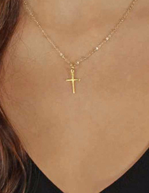 Petite Ladie's Cross w/ Chain (2 Color Styles)