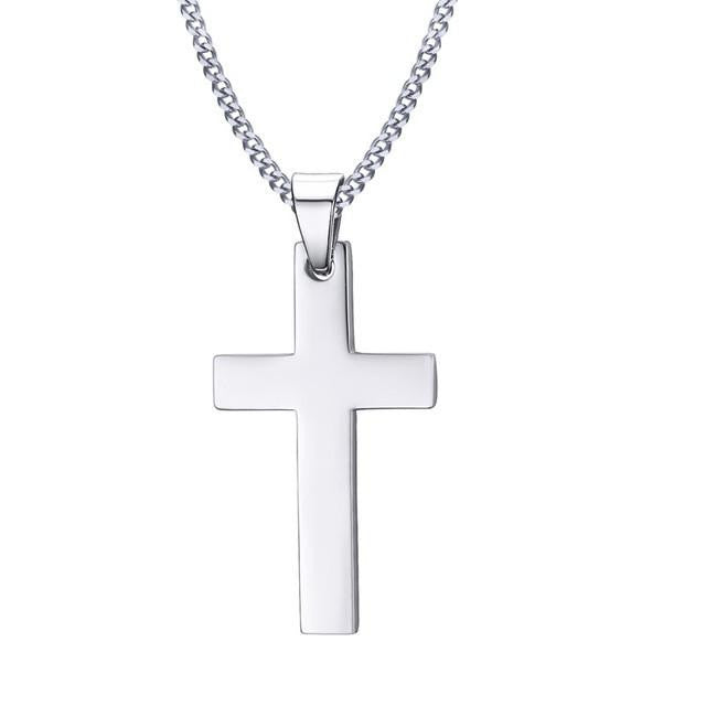 Minimalist Cross w/ Link Chain (3 Color Styles)