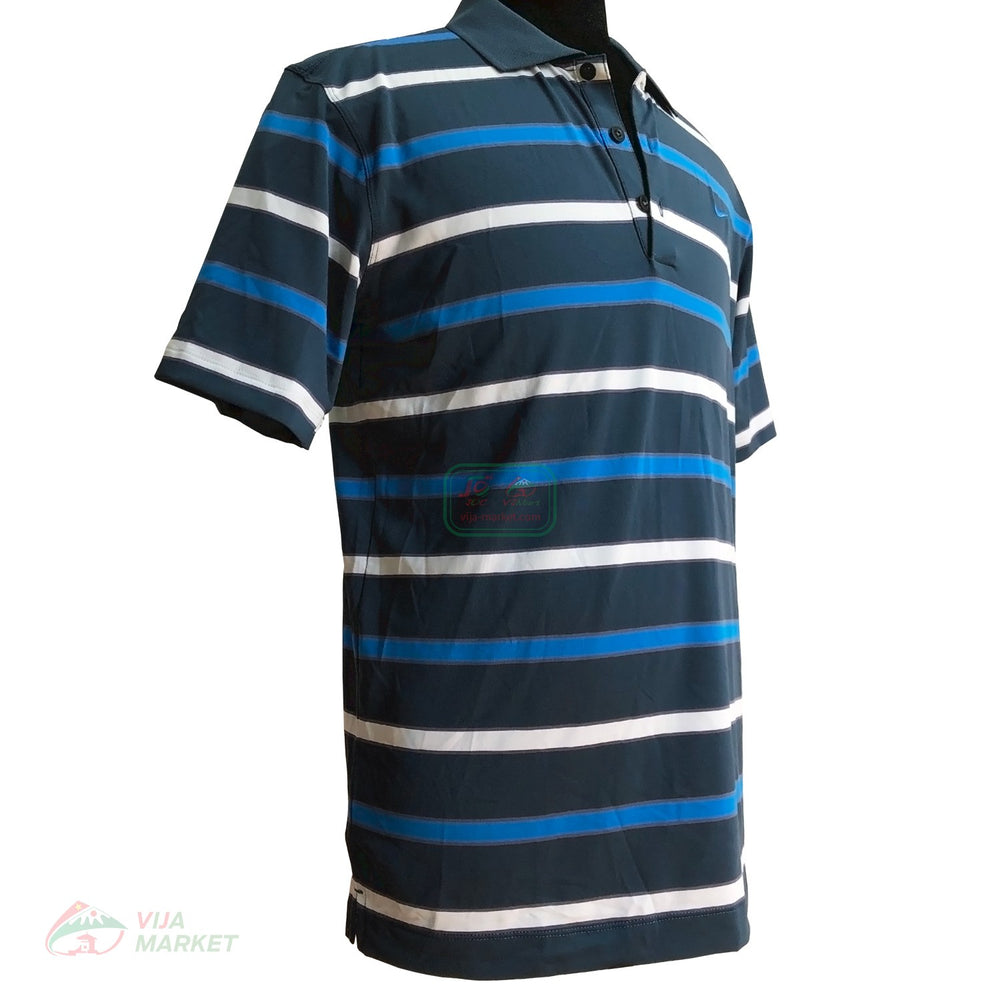 Nike golf Dri-fit stretch uv stripe polo shirt