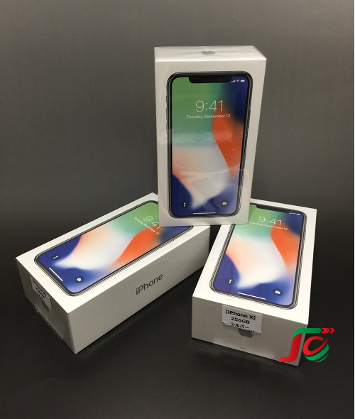 iPhone X, silver, 256GB. New nguyên seal