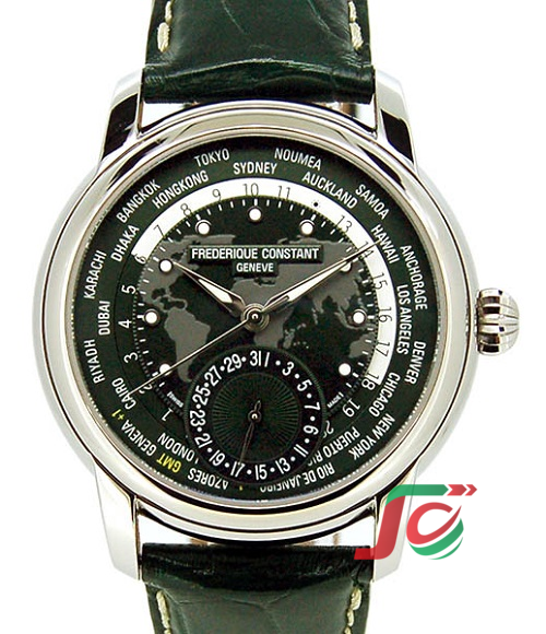 FREDERIQUE CONSTANT World Timer Manufacture FC-718GRWM4H6 Green 42mm Unused item