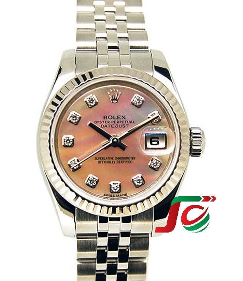 Đồng hồ nữ ROLEX Datejust Pink Shell 10P Diamond USED