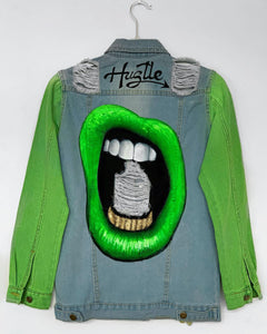 Neon Lips-Denim Jacket