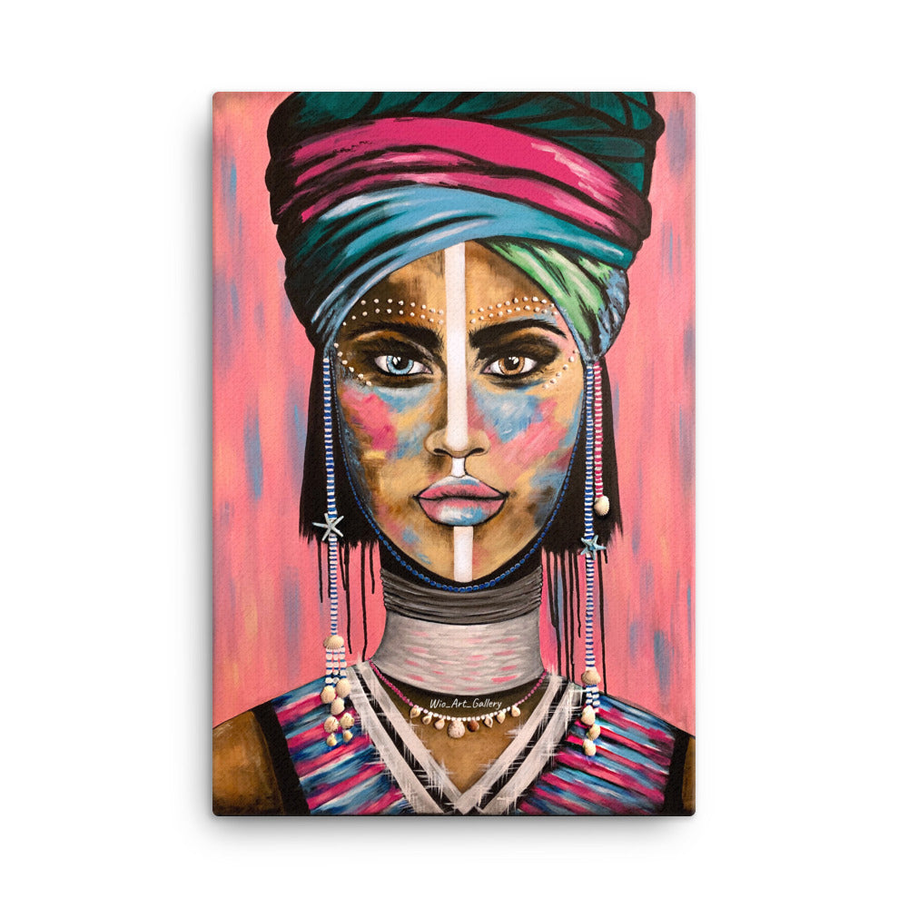 LADY IN PINK print on canvas