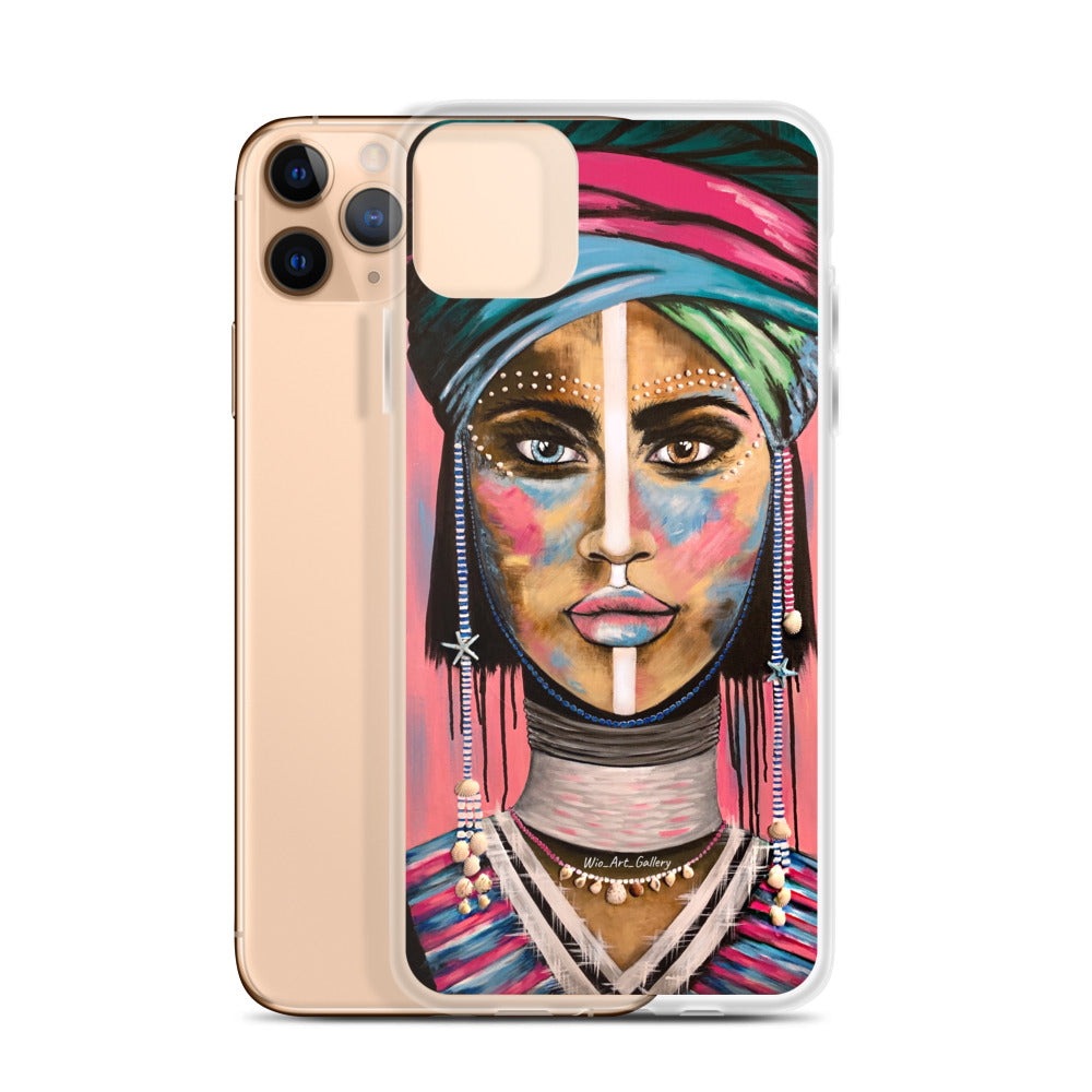 Wio_Art_Gallery Pink iPhone Case