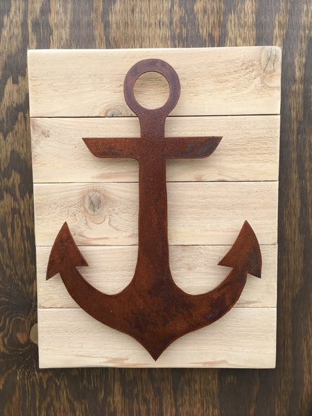 Anchor (Rusted Finish on Wood)
