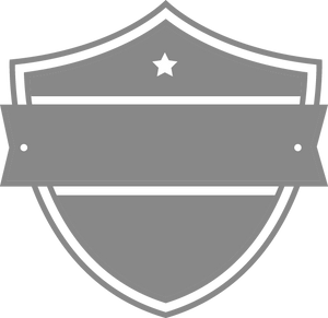 Shield with Ribbon and Star